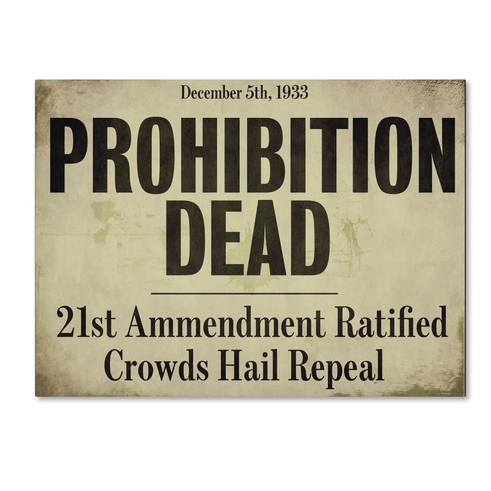 Prohibition by Color Bakery, 14x19-Inch Canvas Wall Art