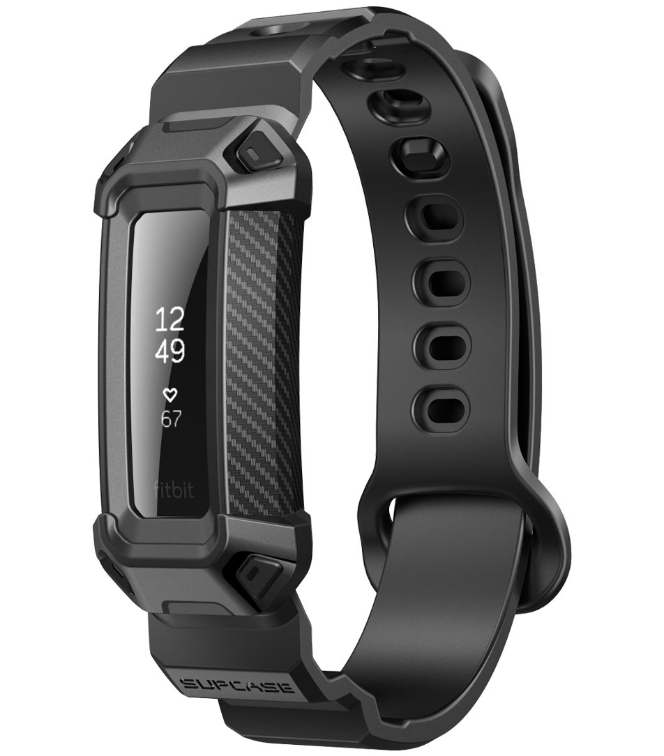 SUPCASE Unicorn Beetle Pro Bands with Case Designed for Fitbit Alta HR Band,Protective Replacement Wristband Case with Strap for Fitbit Alta HR/Fitbit Alta (Black)