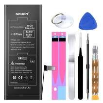 NOHON Battery Replacement Compatible for iPhone 6 Plus, 3480mAh High Capacity Li-ion Battery with Complete Repair Tool Kit and Instructions - Included 24 Months Warranty