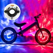 Teguangmei Rechargeable Bike Wheel Hub Lights Waterproof 7 Color 18 Modes LED Cycling Lights RGB Bicycle Spoke Lights for Night Riding Safety Warning and Decoration-1 Pack