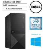 KKE Upgrades 2020 Newest Vostro 3000 Tower Business Desktop, Intel Core i3-9100 Quad-Core Processor up to 4.20GHz, 8GB Memory, 1TB Hard Disk Drive, HDMI, VGA, DVD-RW, Wi-Fi, Windows 10 Pro, Black
