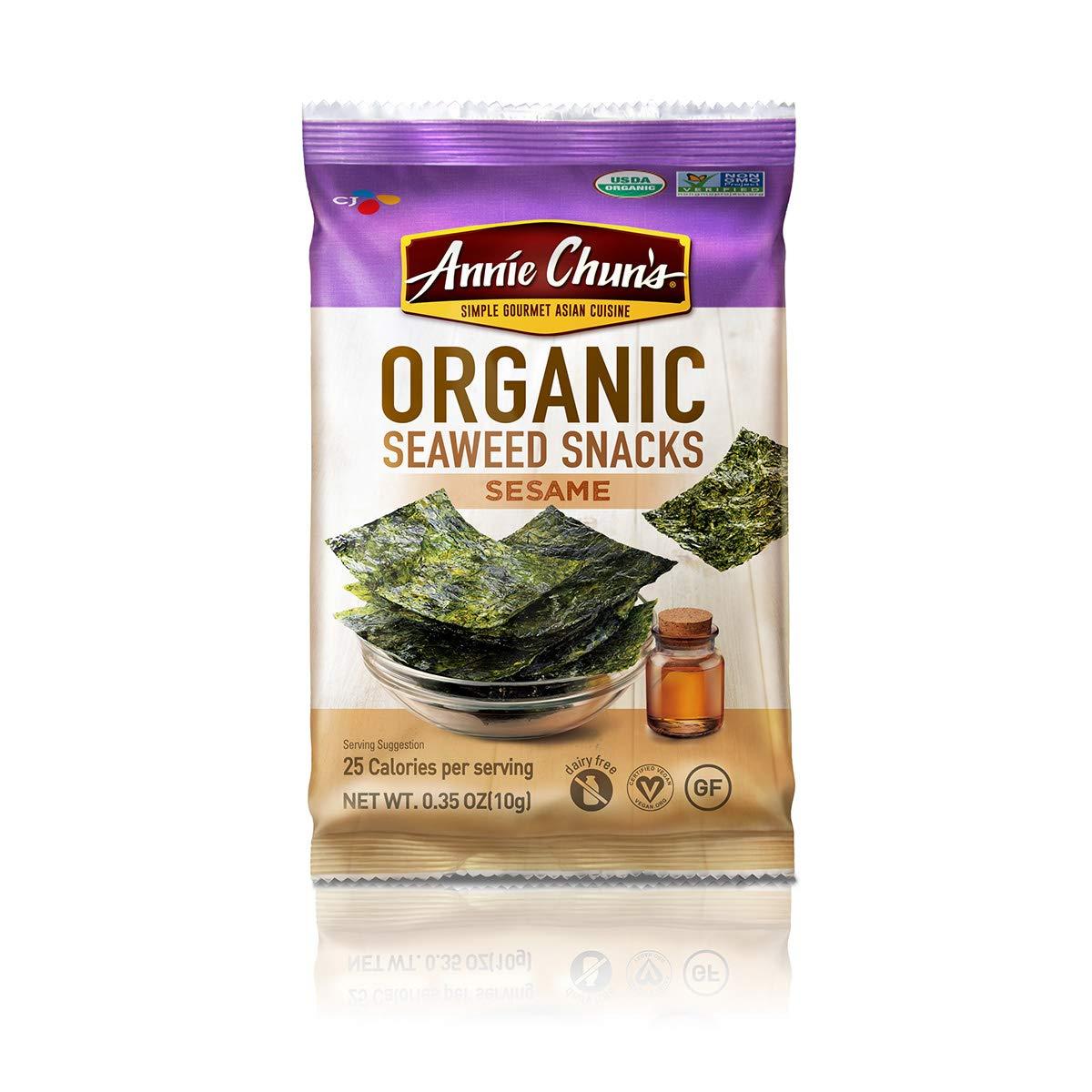 Annie Chun's Organic Seaweed Snack, Sesame, 0.35 Ounce (Pack of 12)