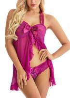 Lingerie for Women Lace Babydoll Halter Chemise Strap Nightwear Plus Size Sleepwear