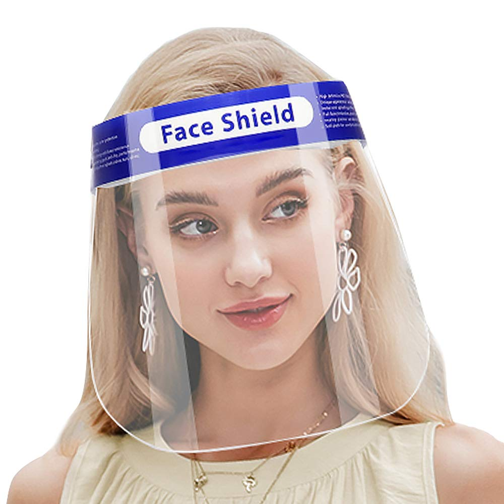 BIKINX Safety Face Shield, 20 Pcs Reusable Adjustable Transparent Full Face Anti-spitting Protective Mask Hat Protect Eyes and Face Anti Drool Splash-Proof Facial Cover Men Women