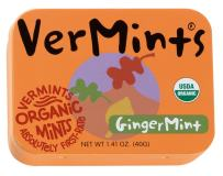 VerMints Organic GingerMints, 1.41oz Tins (Pack of 6)