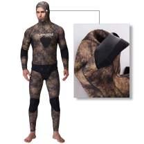 Layatone Wetsuit Men Premium 5mm Super Stretch Neoprene Spearfishing Suit Scuba Diving Suit Two Piece Fullsuit Freediving Jumpsuit Fishing Snorkeling Wet Suits Men
