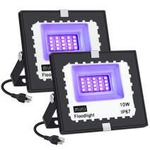 UV LED Light, LaluceNatz IP67 Waterproof Black Lights LED UV Flood Lights for Glow in The Dark Party, Fluorescent Poster, Body Paint, Room Decoration(2 Pack)