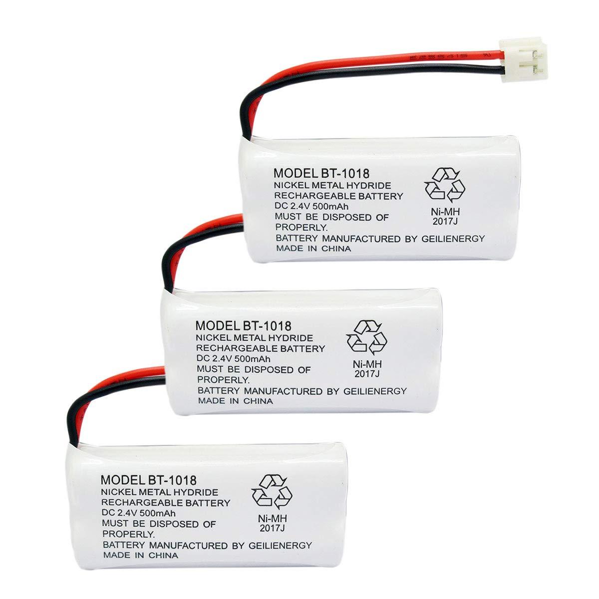 GEILIENERGY BT18433 BT-18433 BT184342 BT-184342 BT1011 BT-1011 Replacement Battery Compatible with AT&T and Vtech BT-8300 BATT-6010 89-1326-00-00 89-1330-01-00 CPH-515D Cordless Phone(Pack of 3)