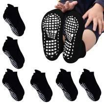 GOBEST 97% Cotton Non Skid Socks Anti Slip Socks with Grips for Toddler Infant Boys Girls
