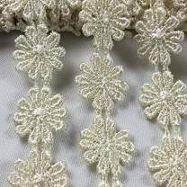 """Lace Trim Daisy 1/2"""" Wide Quality Venise. 5 Yards, Choose Color. Multi-Use ex. Garments Bridals Decorations DIY Sew Arts Crafts Costumes Scrapbooks, Ivory - Amore Fabrics"""