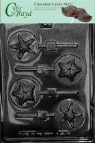 STARFISH ON ROUND POPS chocolate candy mold