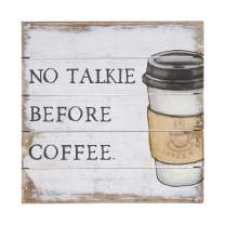 """Simply Said, INC Perfect Pallet Petites 8"""" Wood Sign - No Talkie Before Coffee"""