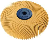 """Dedeco Sunburst - 3"""" TC 6-PLY Radial Bristle Discs - 1/4"""" Arbor - Industrial Thermoplastic Rotary Cleaning and Polishing Tool, Extra-Fine 6 Micron (1 Pack)"""