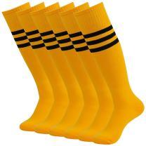 Team Sport Uniform Socks, Diwollsam 2/6/10 Pairs Men's Women's Knee High Tube Football Soccer Volleyball Casual Socks