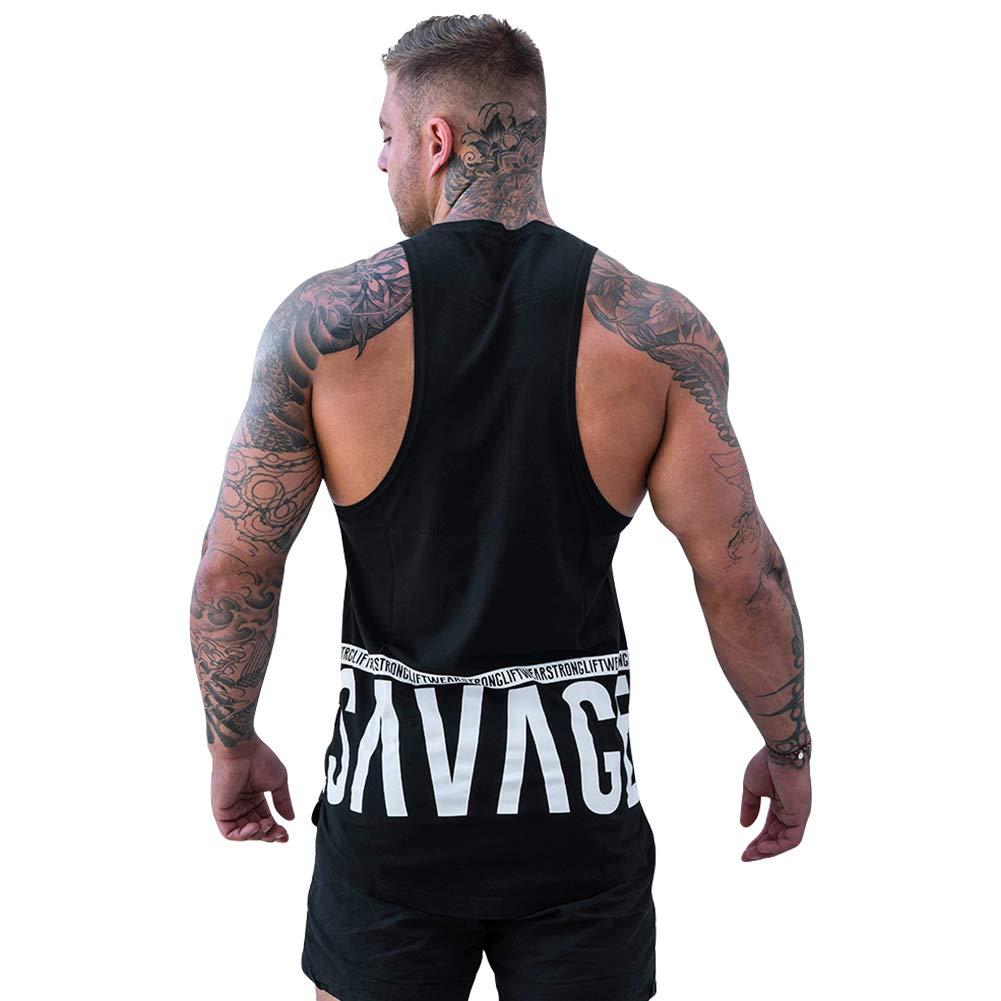BOOMLEMON Men's Fashion Muscle Tanks Gym Workout Tank Tops Fitness Training Vest