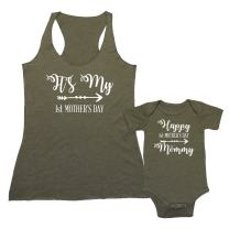 We Match! - It's My First Mother's Day - Matching Triblend Women's Tank Top & Baby Bodysuit Set