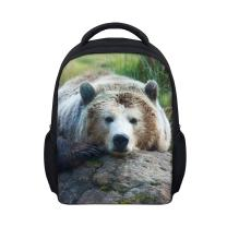 Vivid Animal Print Mini Toddler Backpack Polyester 12 Inch Preschool Bag