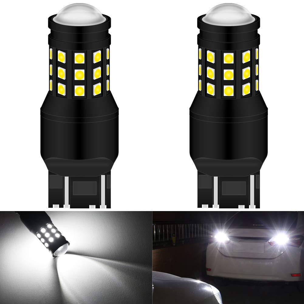KATUR 7443 7444NA 7440 LED Bulb High Power 3030 Chips Extremely Bright 2700 Lumens Replace for Brake Light Turn Signals Bulbs Reverse Tail Lights,6500K Xenon White (Pack of 2)