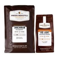 Fresh Roasted Coffee LLC, Tanzanian Peaberry (5 lb) / Light Roast Blend (12 oz), Bundle, Whole Bean