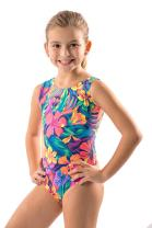 Lizatards Girls Gymnastics Leotard in Hawaiian Tahitian Floral Tank Comes in Two Colors and Girls and Adult Sizes