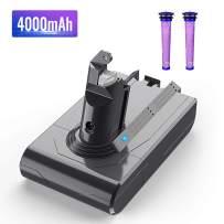 Dyson V6 Battery Replacement,BuTure 4000mAh 21.6V Li-ion Battery for Dyson DC59 Replacement Battery Compatible with DC58 DC61 DC62 Animal DC72 DC74 595 650 770 880
