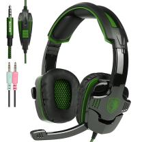 New PS4 Gaming Headset with Mic Volume Control, SADES SA930 Stereo Headphone Compatible Mac PC Laptop Tablet Smartphone by AFUNTA-Black/Green