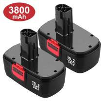 Upgraded 3800mAh C3 Battery Replacement for Craftsman 19.2 Volt Battery 315.115410 315.11485 130279005 1323903 120235021 11375 11376 Cordless Drills 2 Packs