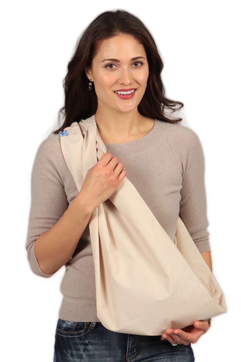 HugaMonkey Cotton Baby Sling Wrap Carrier for Newborn Babies, Infants and Toddlers Upto 3 Years - Stone, Extra Large