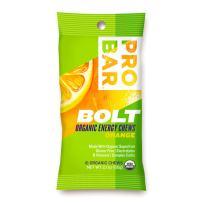 PROBAR - BOLT Organic Energy Chews - Orange - USDA Organic, Gluten-Free, Superfruit Blend, Electrolytes, B Vitamins - Pack of 12