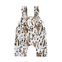 GUMEMO Toddler Baby Girls Sleeveless Jumpsuit Summer Clothes Outfit Leopard Straps Romper One-Piece Bodysuit