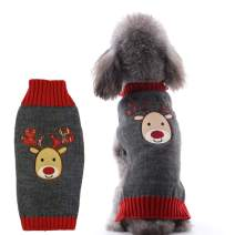 PETCARE Dog Sweater Elk Holiday Warm Clothes for Small Medium Dogs Cats