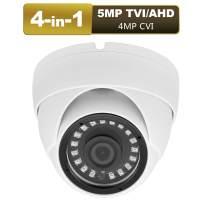 Anpviz CCTV Dome Camera 4-in-1 (5mp TVI, 5mp AHD, 4mp CVI, CVBS) Security Dome Camera, 65ft IR Day/Night, Weatherproof IP66 Surveillance Camera 3.6mm Lens (5mp White)
