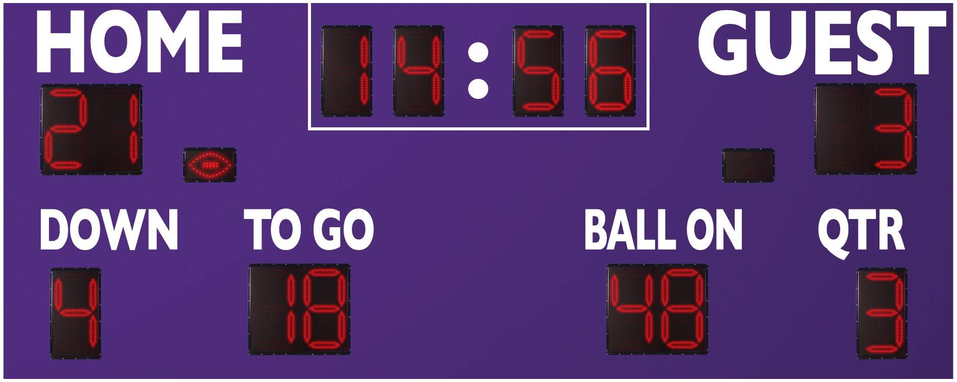 """Varsity Scoreboards Permanent 20' x 8' x 8"""" Football Scoreboard Model 7420"""