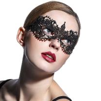 JeVenis Luxury Sexy Lace Eyemask Prom Mask Masquerade Ball Mask for Costume Party Cosplay