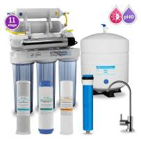 Max Water 11 Stage Home Reverse Osmosis System/Reverse Osmosis Water Filtration System/RO Water Filtration System Under Sink RO Water Purifier 50 GPD UV, PH 5-1 Alkaline Filter