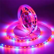 Led Grow Lights for Indoor Plants,AIMENGTE 16.4ft/5M LED Plant Grow Strip Light, 5050 LED Rope Light Flower Plant Phyto Growth Lamps for Greenhouse Hydroponic Vegetable (Not Waterproof, 3 Red 1 Blue)