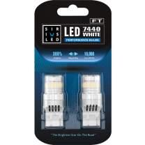 SIRIUSLED - FT- 7440 LED Backup Reverse Light Bulb Super Bright High Power Single Filament function Air Vent Design 3030+4014 SMD White 6500K Pack of 2
