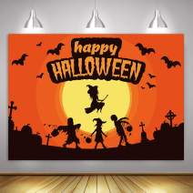 MTMETY Happy Halloween Backdrop for Pumpkin Jack Theme Photo Studio Photography Pictures Background Nightmare Before Home Decor Outdoorsy 10x7ft Large Size Seamless Shoot Props HXME441