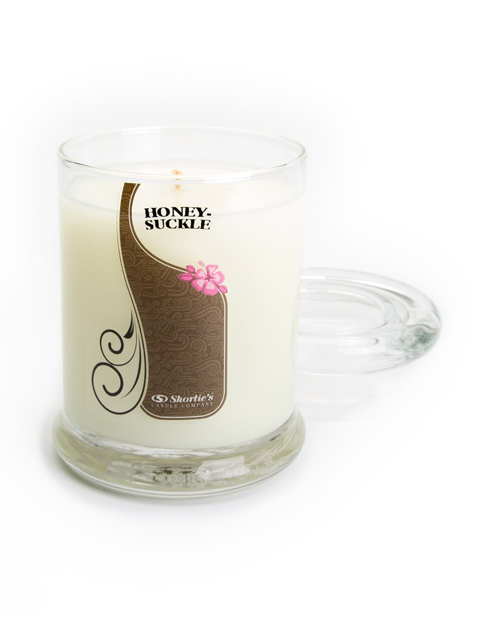 Pure Honeysuckle Candle - Small White 6.5 Oz. Highly Scented Jar Candle - Made with Essential & Natural Oils - Flower & Floral Collection