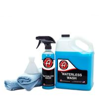 Adam's Waterless Car Wash Kit - Car Cleaning Supplies for Car Detailing | Safe Ultra Slick Lubricating Formula for Car, Boat, Motorcycle, RV | No Garden Hose, Wash Soap, or Foam Cannon Needed