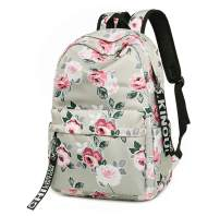 FLYMEI Girl Backpack, Floral Backpack for Women, Lightweight Book Bag Travel Backpack for Girls, Travel Backpack