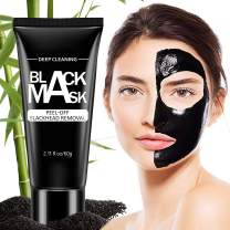 Blackhead Remover Mask Strips Peal off Black Mask Bamboo Activated Charcoal Deep Cleansing,Pore Shrinking Facial Mask for Face and Nose