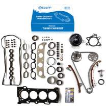 ECCPP Timing Chain Water Pump Cover Gasket Kit fits for 2000-2002 chevy Prizm Pontiac Vibe Fit for TOYOTA Celica Corolla 1.8L 9-4200SA