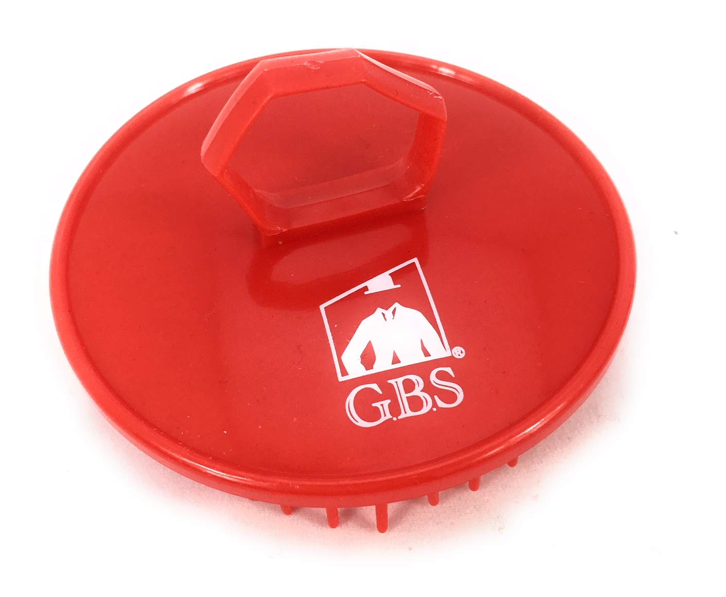 GBS Shower Shampoo Massage Brush No.100 - Single Red Brush - Best Scalp Shower Head Scrubber Promotes for Hair Growth. Multi Use for Women Men Beard and Pet Grooming Brushes