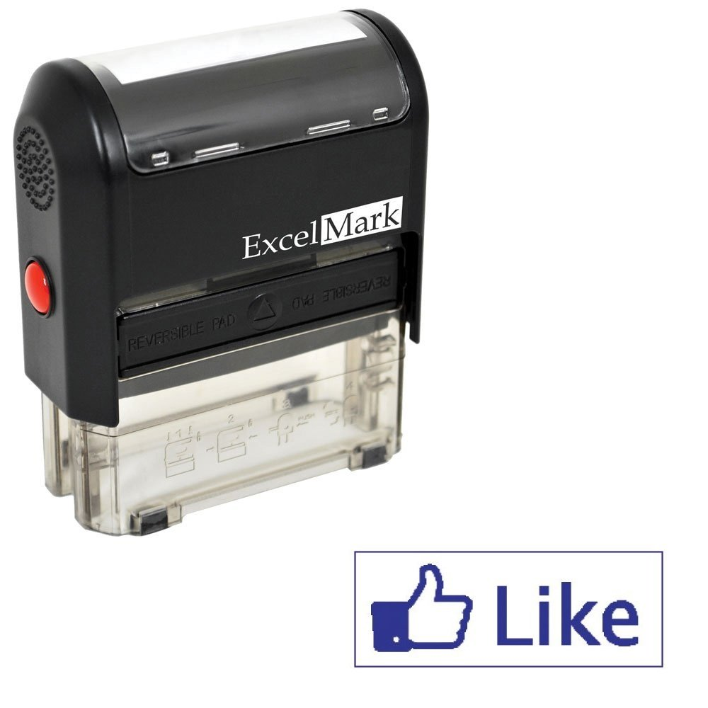 ExcelMark Self Inking Like Stamp - Blue Ink
