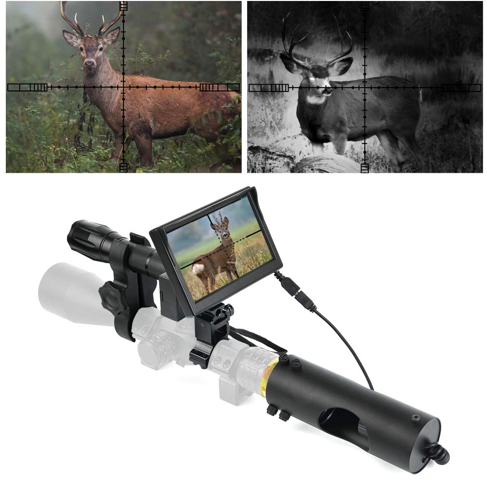 """BESTSIGHT DIY Digital Night Vision Scope for riflescopes with Camera and 5"""" Portable Display Screen"""