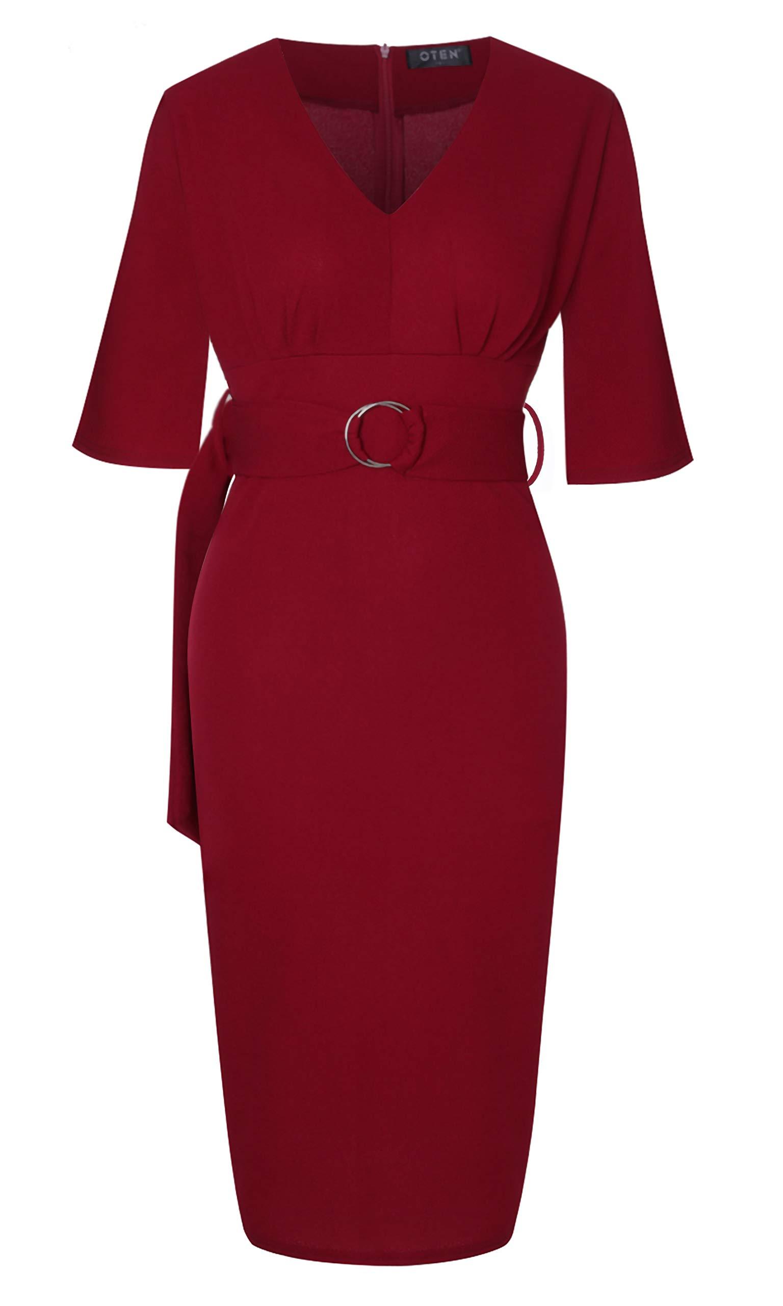 oten Skirt Wine Red
