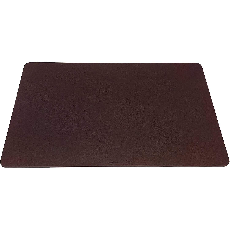 Maruse Italian Leatherette Desk Pad   Desk Blotter   Desk Mat, Handmade in Italy, Brown
