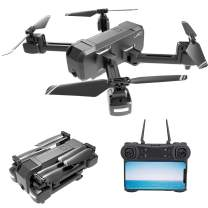 GoolRC Drone KF607 Foldable Drone with Dual Cameras - 4K FPV HD Camera/Video and 480P Optical Flow Positioning Camera, RC Toy Quadcopter