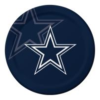 Creative Converting Officially Licensed NFL Dinner Paper Plates, 96-Count, Dallas Cowboys -